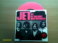 """JET . PUT YOUR MONEY WHERE YOUR MOUTH IS PINK VINYL 7"""""""