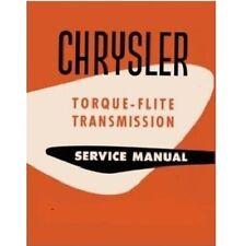 Factory Shop - Service Manual for 1956-1961 MoPar TorqueFlite Transmission