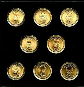 2010-P&D $1 US Presidential Dollar BU Uncirculated 8 Coin Set w/Box  21rct0330