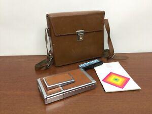 Polaroid SX-70 Land Camera w/  Polaroid Leather Case Strap & Manual UnTested!