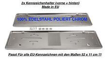 2x Top Nummernschildhalter Kennzeichenhalter Edelstahl Hochglanz Poliert CHROM