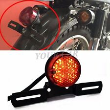 12V MOTORCYCLE RED LED BRAKE TAIL LIGHT FOR HARLEY BOBBER CHOPPER CAFE RACER ATV