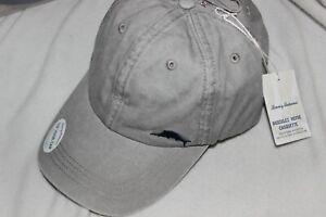 Tommy Bahama Men's Grey Cotton Adjustable Classic Baseball Golf Cap NEW