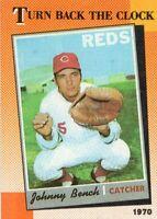 1990 TOPPS BASEBALL CARD # 664 - HOF JOHNNY BENCH - CINCINNATI REDS