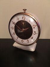 *Antique 1930-50's Lux Lebanon Ivory / Cream Art Deco Windup Alarm Clock*