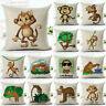 Cartoon monkey Cotton Linen Throw Pillow Case Sofa Cushion Cover Home Decor