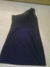 Ladies black lace one shoulder dress size 10