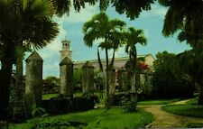 guam, Fence of Old Stone Pillars around Palace (1960s) Curteichcolor G-25