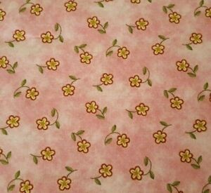 """32"""" Twinkle Little Star Jill Kemp Red Rooster Gold Wine Floral on Pink"""