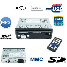 STEREO AUTORADIO AUTO RADIO FM MP3 USB SLOT SD MMC AUX OROLOGIO DIGITALE 6248