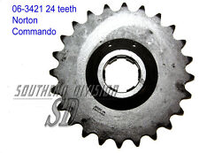 06-3421 GEARBOX SPROCKET 24 teeth Norton Commando PIGNONE GETR. 530 5/8x3/8 CHAIN
