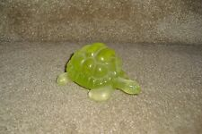 DAUM FRANCE YELLOW ART GLASS TURTLE PATE DE VERRE TORTOISE FIGURINE RARE GIFT