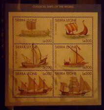 243.Briefmarken Schiffe Sierra Leone Kb.,postfrisch