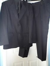 "Pinstripe men`s smart blue 2-piece suit chest size 38"" waist 36"" short"