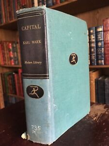 Capital by Karl Marx Antique Modern Library Edition 1905