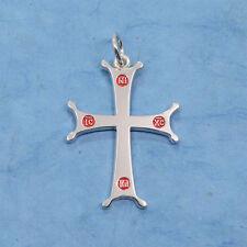 Sterling Silver Sinai Cross Pendant IC XC NIKA