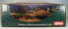SCHUCO 1/43 DIORAMA FENDT FARMER II tracteur avec remorque et personnages neuf dans sa boîte #248
