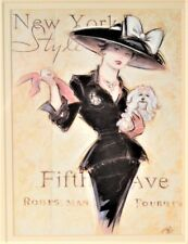 'NY Socialite' Print Double Matted New 11 x 14 Home Decor by Artist Chad Barrett