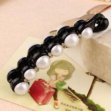 Pearls Hairpins Banana Hair Clip Twist Clip Comb Ladies Hair Fish Grip Slide