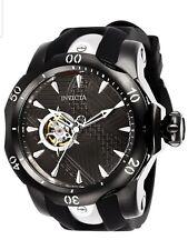 Invicta Marvel Black Panther Venom Open Heart Automatic Silicone Strap Watch