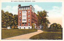 Davenport IA Zig, But No Zag Path to St Luke's Hospital~Three Sunrooms c1913
