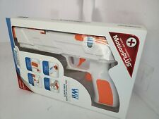 NEW DreamGear White & Orange Quick Shot Plus Dual Trigger Gun for Nintendo Wii