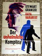 STEWART GRANGER + DER UNHEIMLICHE KOMPLICE - A1-FILMPOSTER  EA  Ger 1-Sheet 1961
