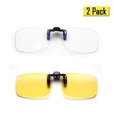 (2 PACK)Cyxus Clip On Blue Light Blocking Computer Glasses, Anti Eyestrain UV