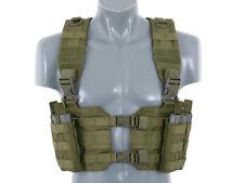 Chest Rig Harness mit 4 Taschen in Oliv mit Molle Klett Tactical Weste