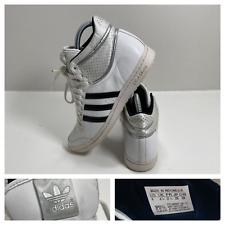 Adidas Hi Tops Sleek Series White Patent Leather Trainers Size UK 4.5 EU 37.5