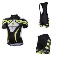 Mens Cycling Short Sleeve Jersey Kits Bicycle Bib Top Tights Pand Set
