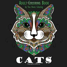Coloring Books For Adult Cat Faces Painting Art Design Therapy Stress Relaxing