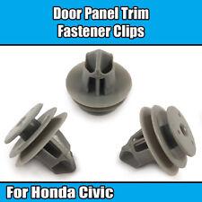 10x Clips Pour Honda porte carte Fascia Trim Panneau Garniture Fasteners plastique blanc