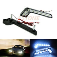 2X Waterproof Car Daytime Running Light 8 LED DRL Daylight Kit Super White DC12V