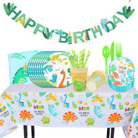 Disposable Tableware Jungle Dinosaur Print Baby Shower Birthday Party Supplies