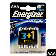 4 x Energizer Ultimate Lithium AAA batteries 1.5V L92 LR03 MN2400 Micro EXP:2035