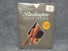 Burlington Sheer Legacy Quality Pantyhose Tights Long White T75 NEW NOS