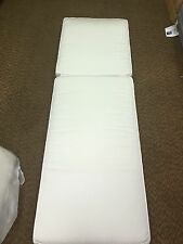 Frontgate Palermo Outdoor Patio Chaise Lounge Cushion Solid White Thick 26x80