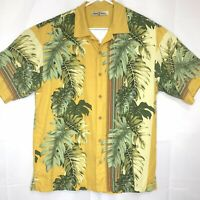 Tommy Bahama Silk Camp Hawaiian Shirt Men's Size Medium Hibiscus Floral