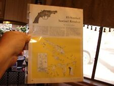 HI-STANDARD 22 cal SENTINEL Revolver EXPLODED VIEWS 1960 Magazine Article