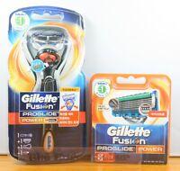 Gillette Fusion Proglide Flexball Power 1 Razor + 8 Refill Cartridges + 1 holder