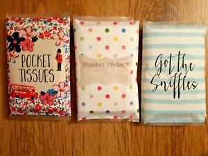 3 Packs Of Pocket Tissue Wallet Style White Pocket Tissues .PACK OF 3. UK SELLER