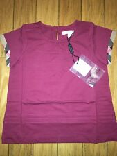 NEW Burberry Girls Cotton Tee T- Shirt Top, Size 4Y/110cm