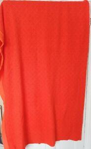 "Cellular Double Bed Blanket 90"" X 100"" Bright Orange"
