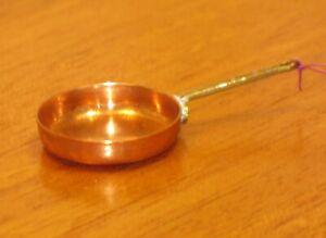 Getzan Brass Handled Copper Sauté Pan Artisan Dollhouse Miniature