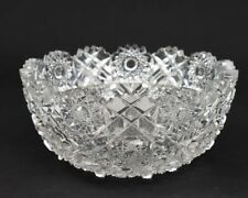 "ABP American Brilliant Cut Glass 8"" Bowl HUNT Royal Pattern"