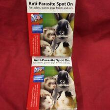2 X 4 Flea Tick Lice Mange Mite Roundworm Anti-parasite Rabbit Guinea Pig Rat