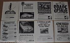 1959-66 RENAULT advertisements x8, British adverts, 4, Dauphine, Gordini, 16