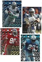 LOT OF 4 1995 FLEER FOOTBALL INSERTS 1 TD SENSATIONS, 3 GRIDIRON LEADERS