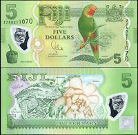 Figi Banconota 5 Dollars. ND (2013) Polimero FdS Replacement. Cat# P.115a